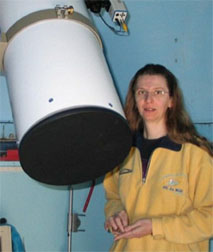Comet hunter Claudine Rinner