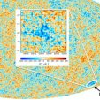 Planck Cosmic Microwave Background with Cold Spot inset
