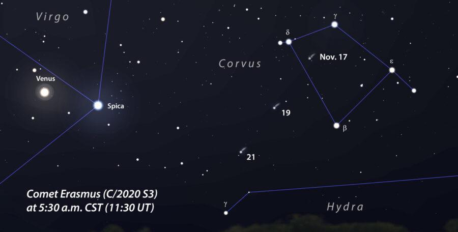 Comet Erasmus current location