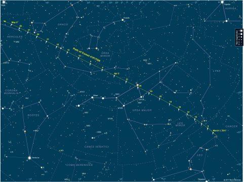 Finder chart for Comet 41P/T-G-K