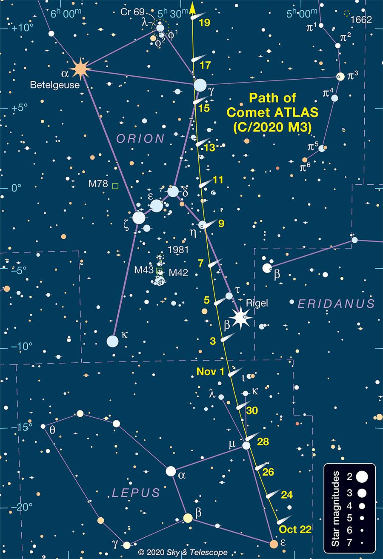 Comet ATLAS finder chart