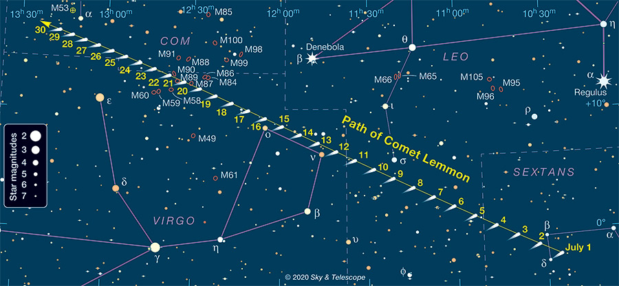 Comet Lemmon finder chart