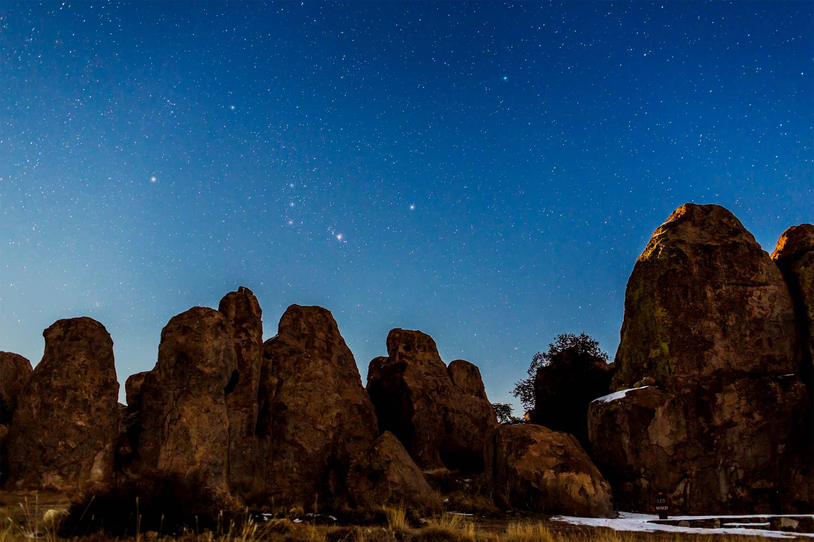 Comet Lovejoy near Orion