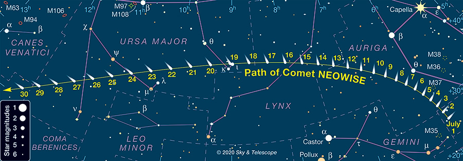 Comet NEOWISE Finder Chart