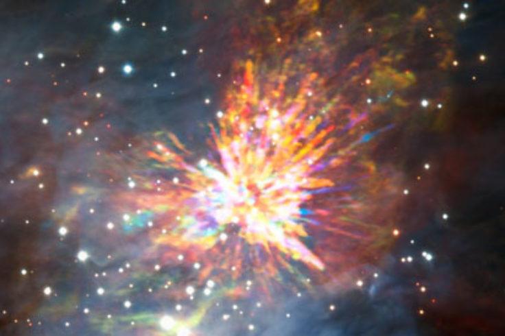 Stellar fireworks in Orion