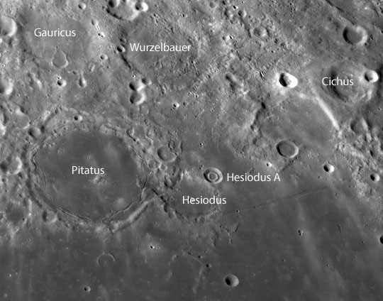 Ringing in our first crater