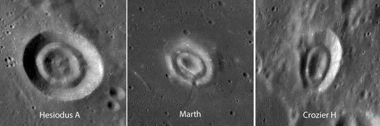 Craters and their inner donuts