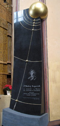 Monument at Copernicus's tomb