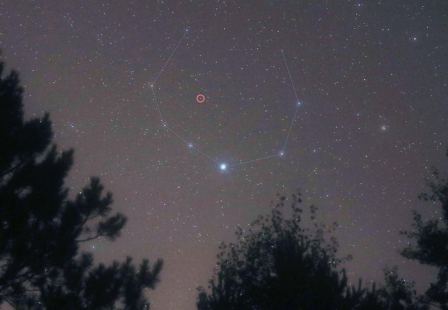 Crown in the western sky