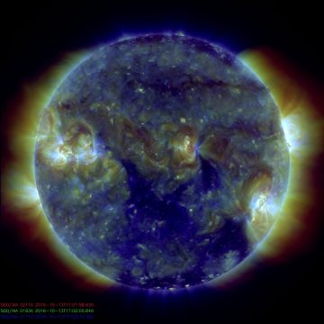 Coronal hole on October 13th