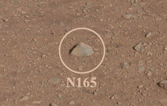 First rock zapped by Curiosity's laser