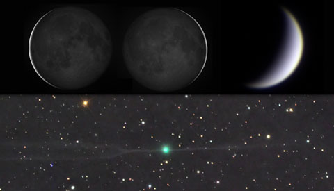 Three Crescents and a Sinking Comet