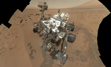 Curiosity's self portrait