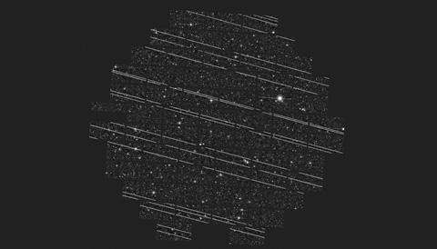 Starlinks cross DECam image