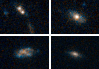 faraway spiral galaxies