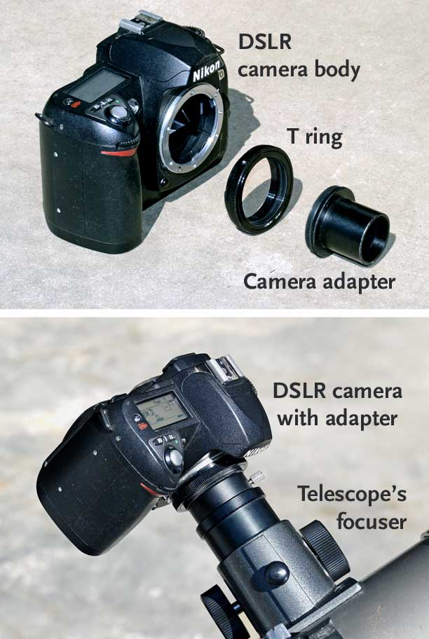 Adapting a DSLR to your telescope