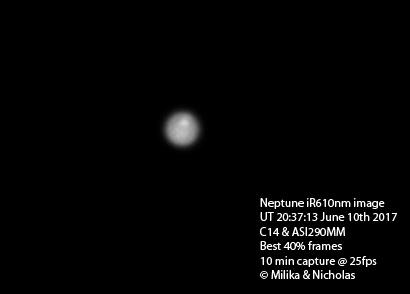 Amateur image of Neptunian storm