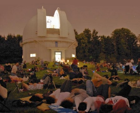 Perseid party at David Dunlap Observatory