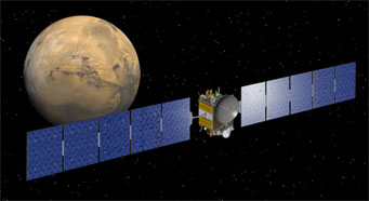 Dawn flies past Mars