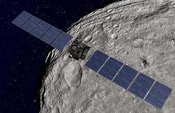 Dawn spacecraft around Vesta