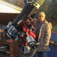 Dennis di Cicco with Paracorr telescope