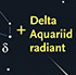 Radiant for Delta Aquariid meteors