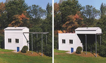 Dennis di Cicco's three-story observatory has a roll-off roof, allowing his telescopes to quickly reach thermal equilibrium with the outside air.