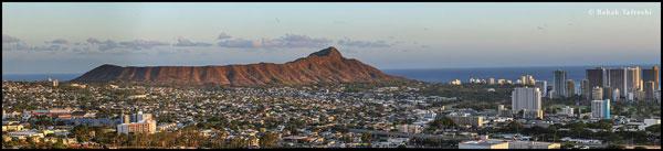 Diamonhead Crater and Honolulu