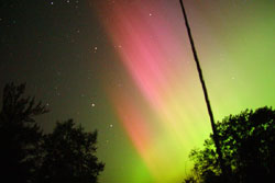 Aurora captured by a digital camera