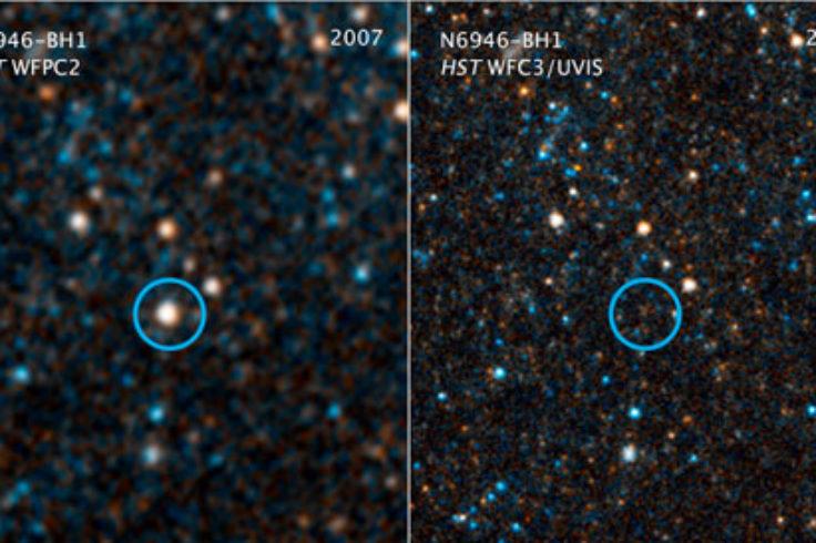Hubble observations of failed supernova