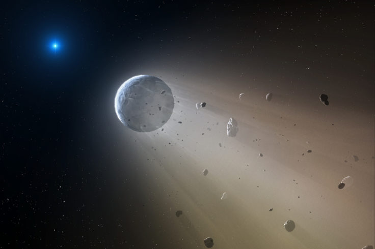 disintegrating planet or asteroid
