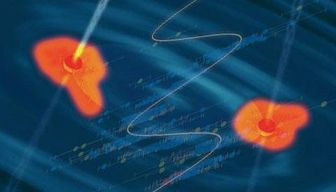 black hole binary artist's impression