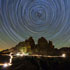 Star trails over Tre Cime di Lavaredo Dolomites