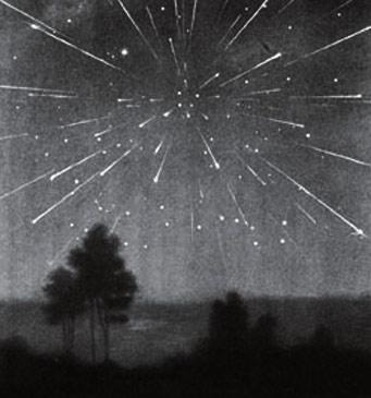 Draconid meteor painting
