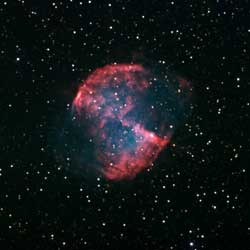 One of the most observed nebulae is the <b>Dumbbell Nebula,</b> M27, in Vulpecula