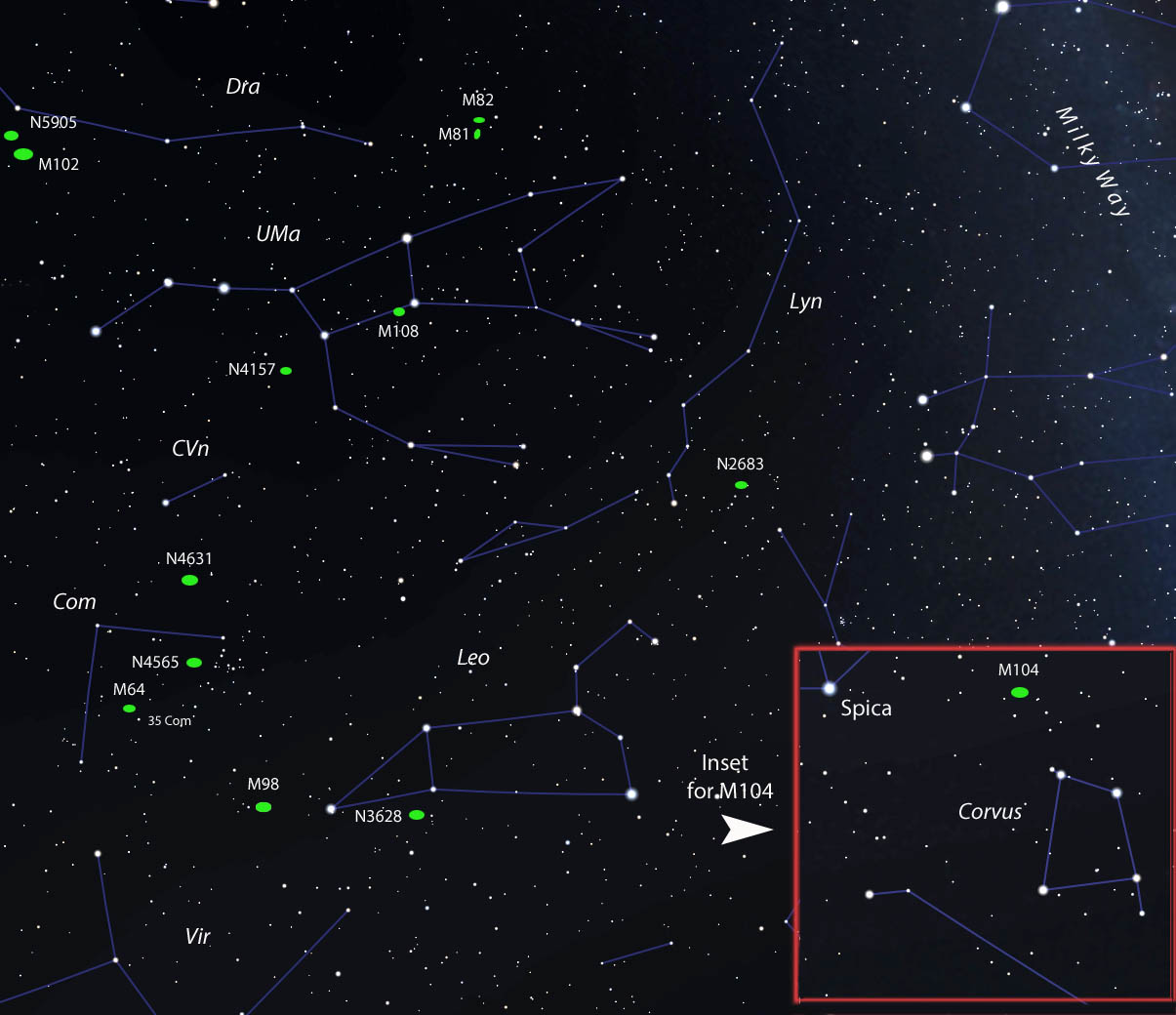 Galaxy Finder Map