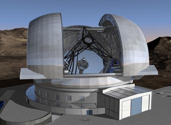 Enclosure for ESO's giant telescope