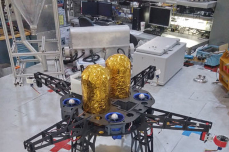 Asteroid Prospector Flyer prototype