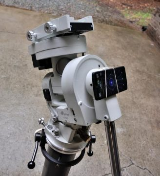 Smortphone polar alignment on an equatorial mount