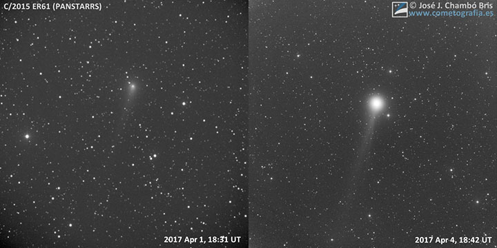 パンスターズ彗星 (C/2015 ER61)がバースト!?
