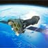 Artist's impression of XMM-Newton spacecraft in orbit around the Earth