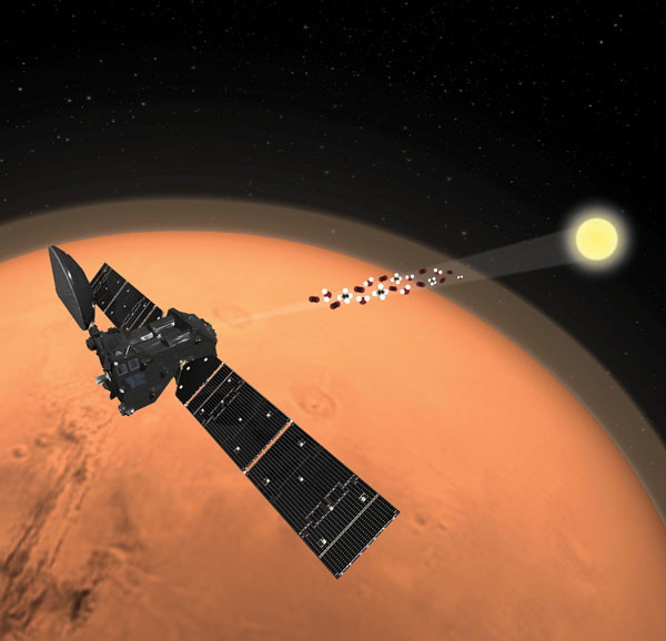 ExoMars Trace Gas Orbiter looks for methane (art)