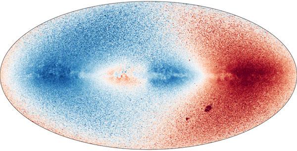 Gaia's radial velocity map