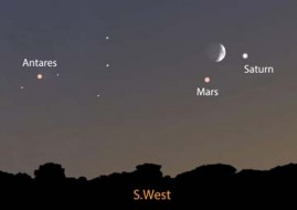 Trio of celestial delights on August 31st