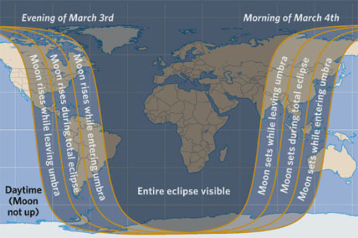 March 3rd eclipse map