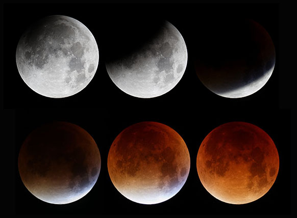 red moon and eclipse - photo #12