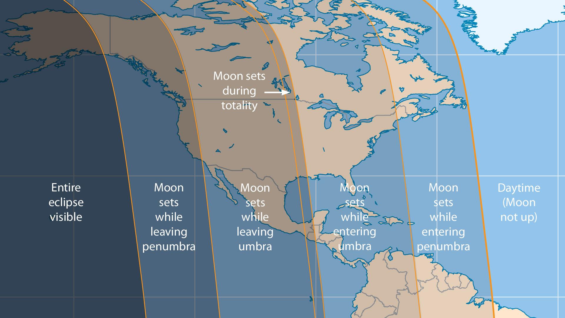 April 2015 lunar eclipse visiblity