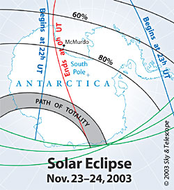 Maps showing eclipse visibility