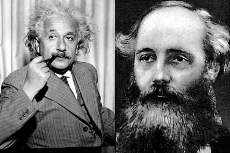 Albert Einstein & James Clerk Maxwell