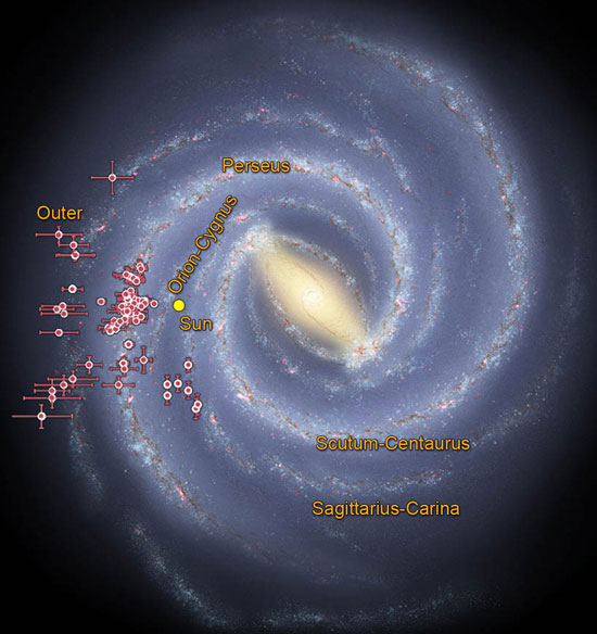 Mapping the Milky Way with embedded star clusters